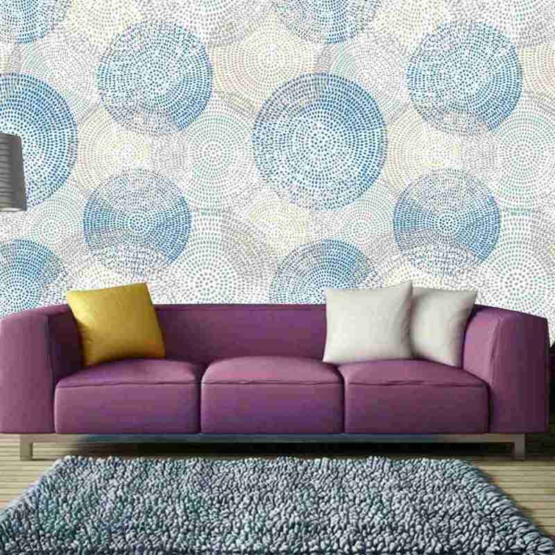 Buy Wallpaper Online With Colorful Dot Art 1
