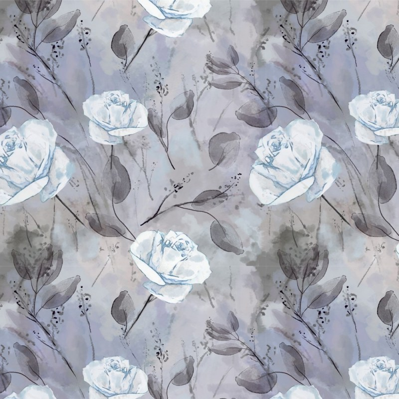 Turquoise Roses Floral Wallpaper 3