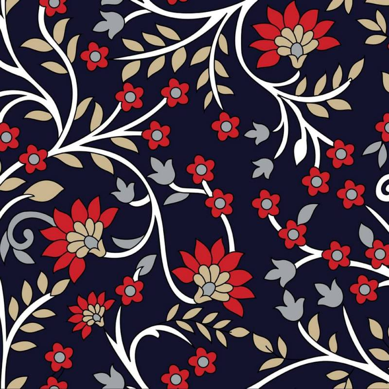 Buy Red Indian Paisley Wallpaper 3