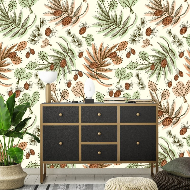Pine And Fern Removable Wallpaper 2