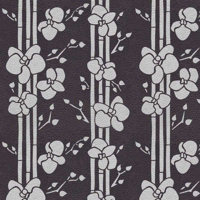 Buy Abstract Grey Flowers Wallpaper 3