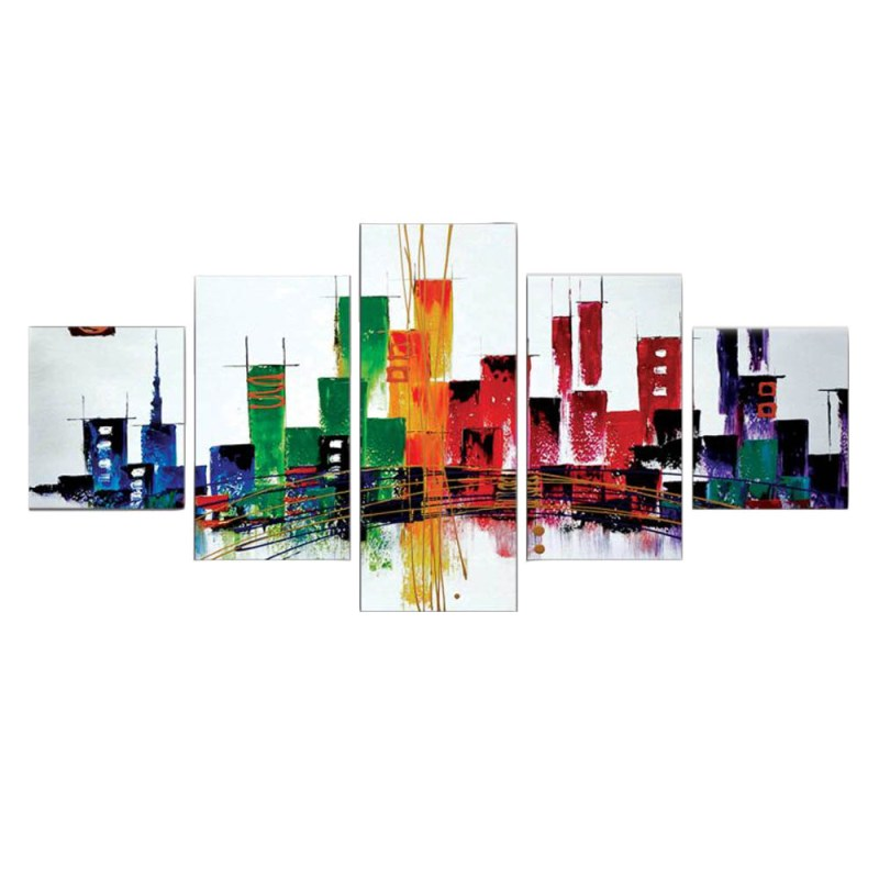 Abstract Buildings Canvas Wall Art 2