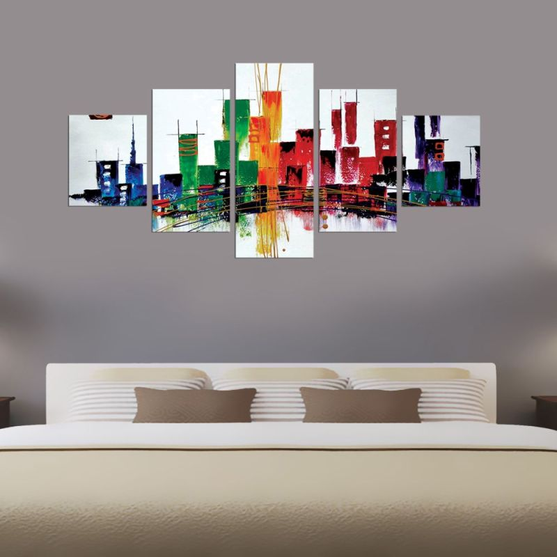 Abstract Buildings Canvas Wall Art 1