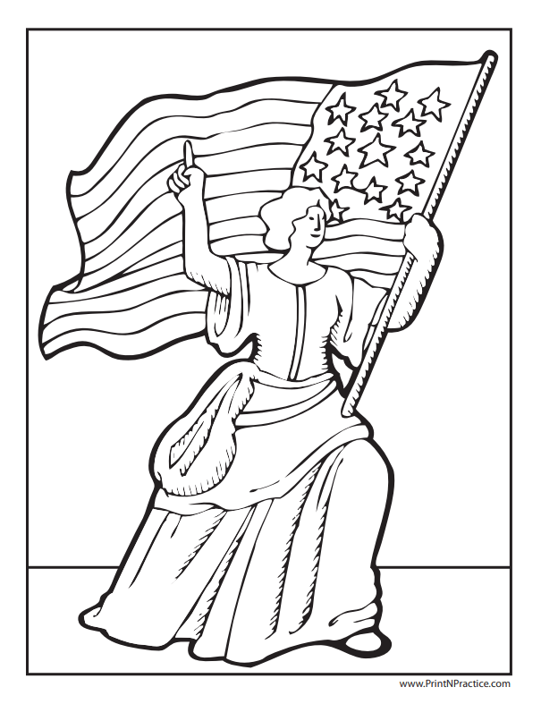 9 Flag Coloring Pages For Kids ⭐ USA, Tricolors, & Betsy Ross