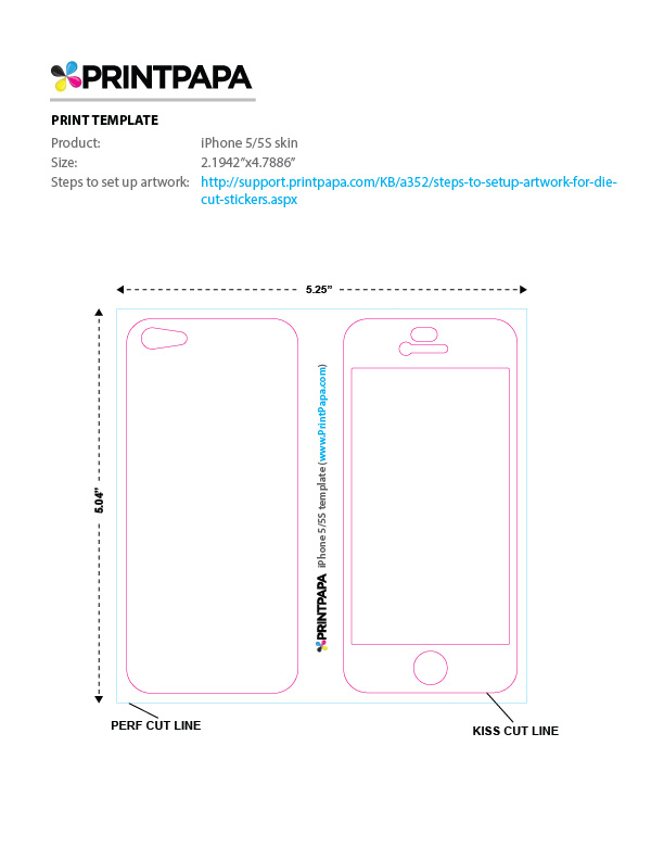 7 Case Plus Template Iphone Size