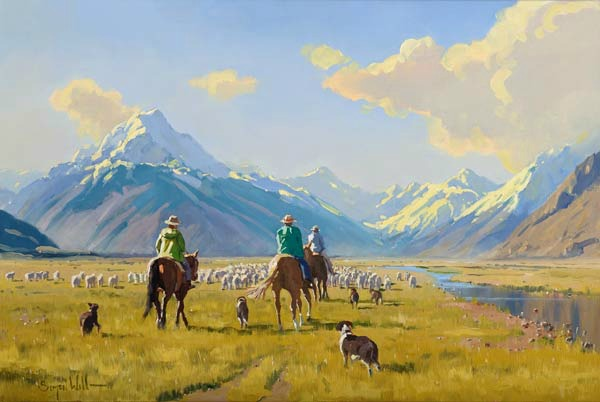 Mount Cook Muster Canvas Print by Simon Williams New