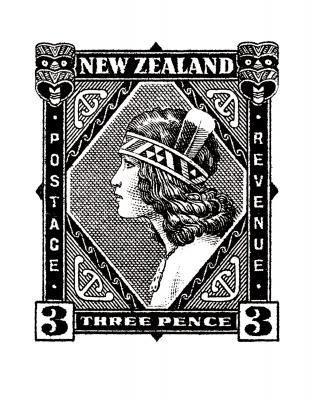 Historical NZ Stamp Print Wahine New Zealand Fine Prints