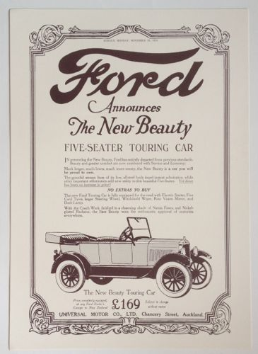Vintage Ford Advertisement New Zealand Fine Prints