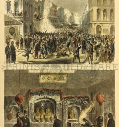 two views celebration of new year and chinese joss house 11x16 in 50 [ 1000 x 1609 Pixel ]