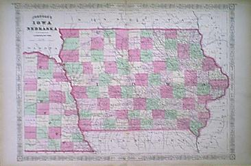 Prints Old amp Rare Iowa Antique Maps amp Prints