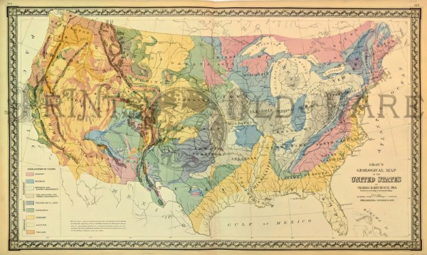 Prints Old Rare United States of America Antique