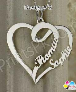double names in heart locket customized name necklace