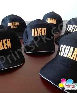 Gold Name Cap
