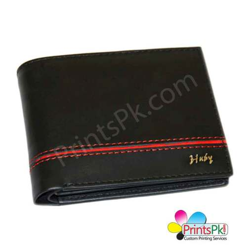 Black Red Piping Wallet