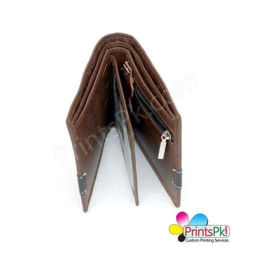 Brown Crocodile Wallet inner pockets