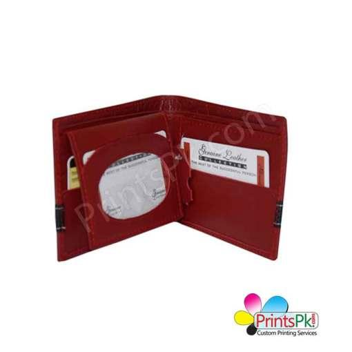 Red Crocodile Wallet inner pockets