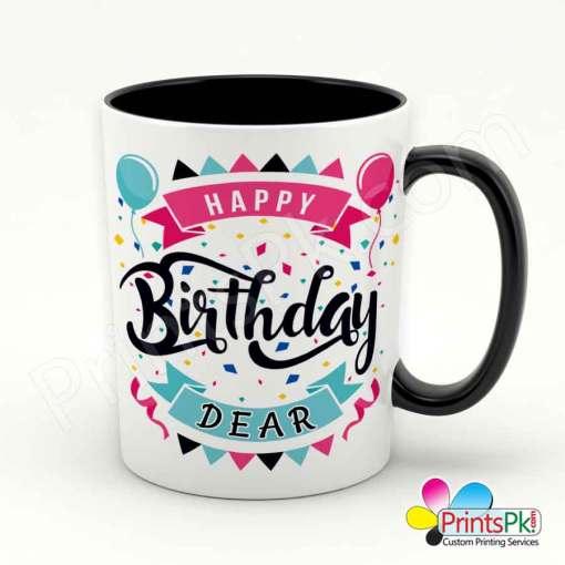 Happy Birthday Dear Mug black