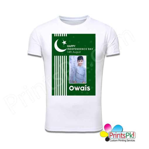 Happy Independence Day 14th August Custom Picture & Name T-Shirt