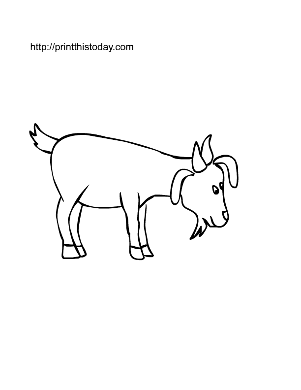 Free printable Farm animals coloring Pages