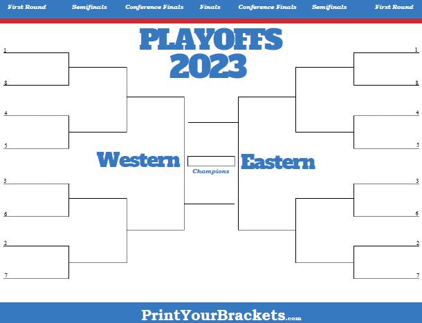 Printable NBA Playoff Bracket