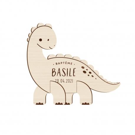 faire part bapteme original en bois dinosaure print your love