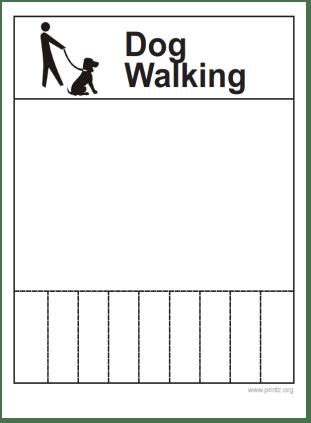 Dog Walking Flyer