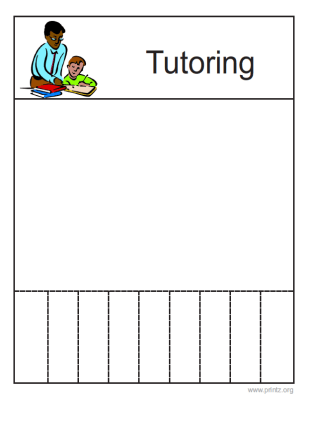 printable tutoring flyer