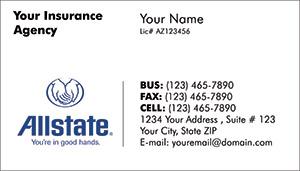 Allstate Insurance Business Cards Printzu Com