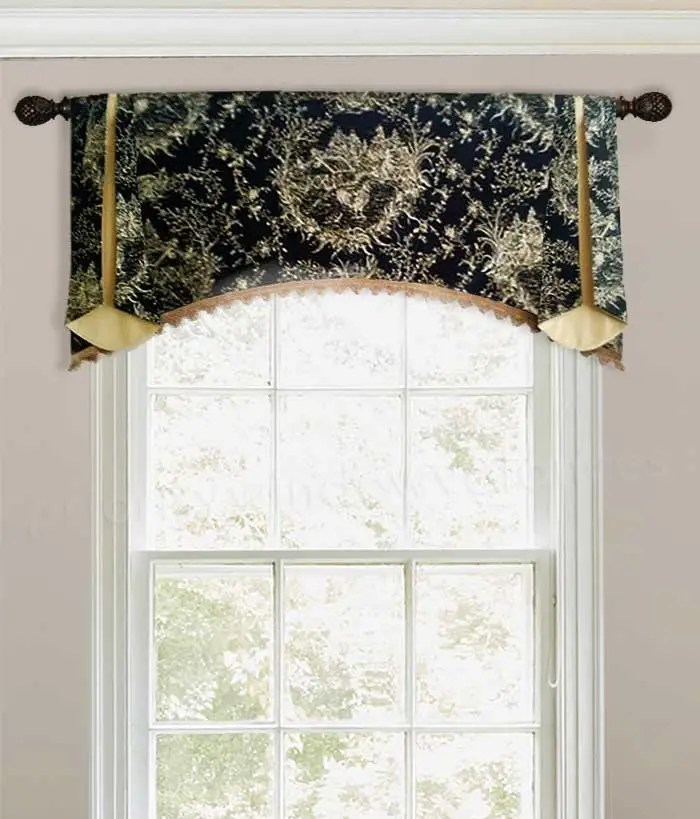 what is a rod pocket valance