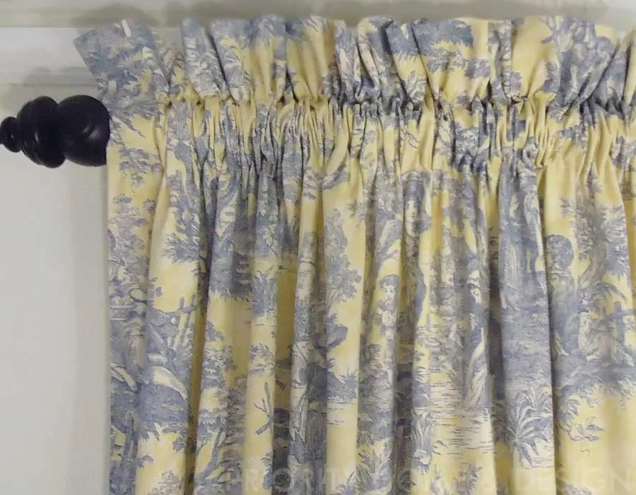 how to measure for a gathered valance
