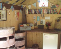 Firetrays, Freezer and Book Swap Hut