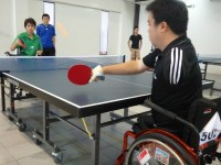 Playing Table Tennis  in a Wheelchair | PrisChew.com ...