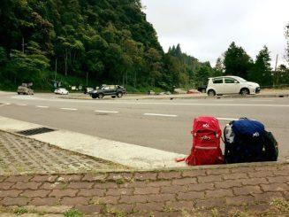 mochilas en ruta