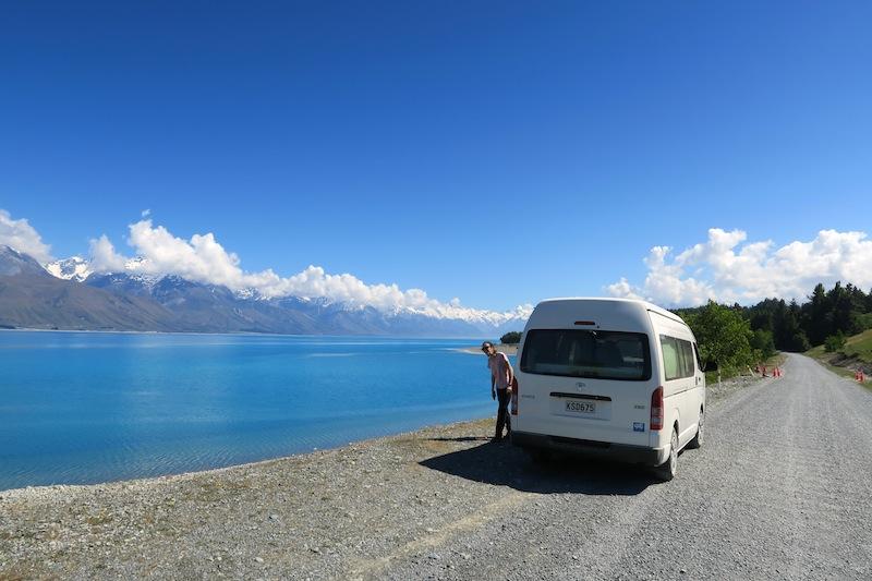 carretera lago pukaki