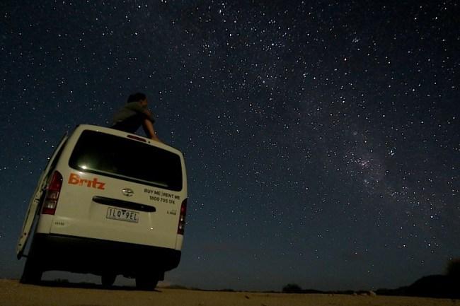 cielo estrellado en australia