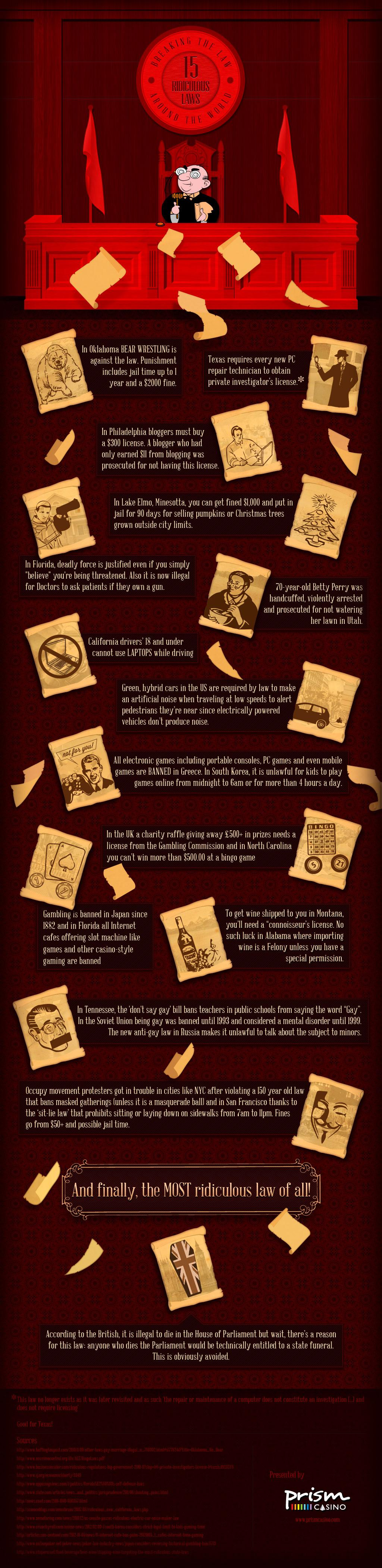 Infographic: Breaking the Law: 15 ridiculous laws