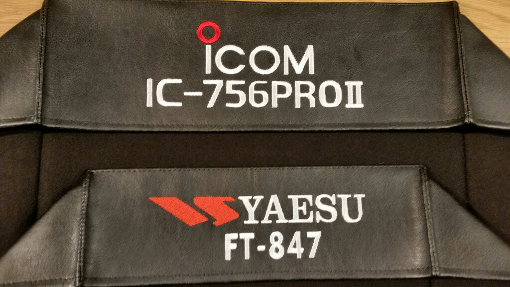 Icom IC-756 Pro II and Yaesu FT-847 DX Covers Radio dust cover