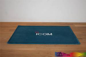 Icom Peacock Blue Shack Mat