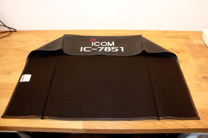 Icom IC-7851 DX Covers Radio dust cover on the bench