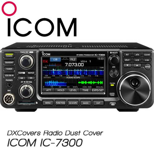 ICOM IC-7300 Prism Embroidery Radio Dust Covers shop logo