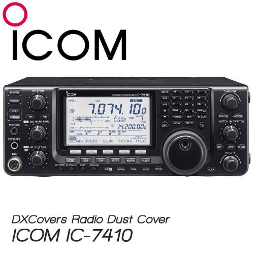 ICOM IC-7410 Prism Embroidery Radio Dust Covers shop logo