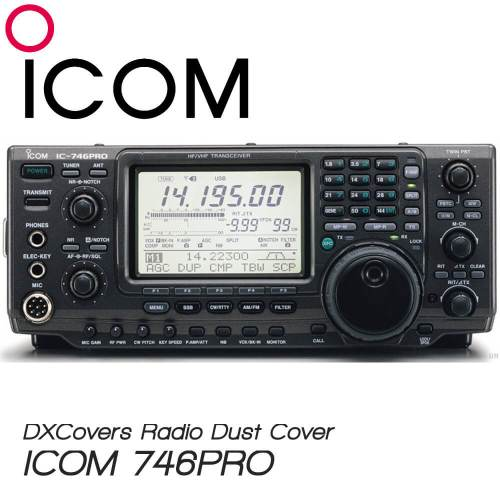 ICOM IC-746PRO Prism Embroidery Radio Dust Covers shop logo