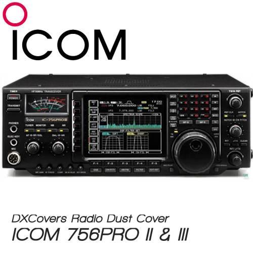 ICOM IC-756PRO II and III Prism Embroidery Radio Dust Covers shop logo
