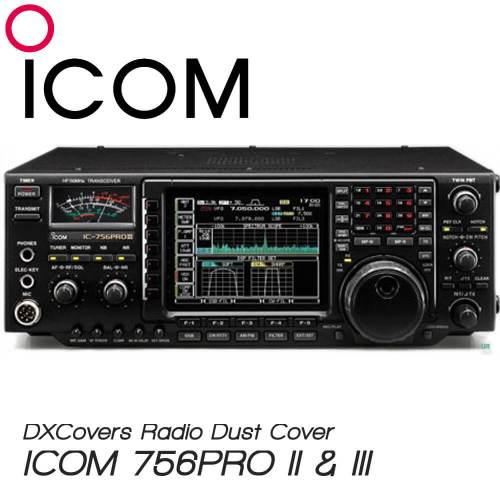 ICOM IC-756PRO II and III Prism Embroidery Radio Dust Covers shop logo