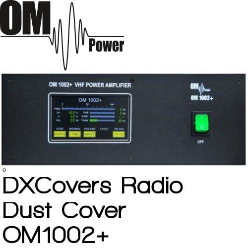 OM Power OM1002+ Prism Embroidery Radio Dust Covers shop logo