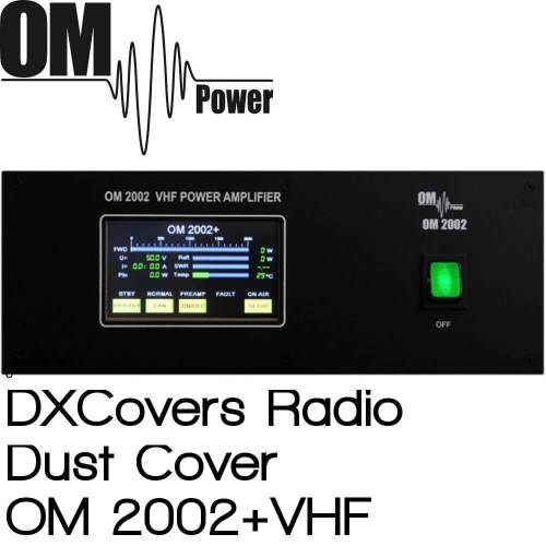 OM Power OM2002+ VHF Prism Embroidery Radio Dust Covers shop logo