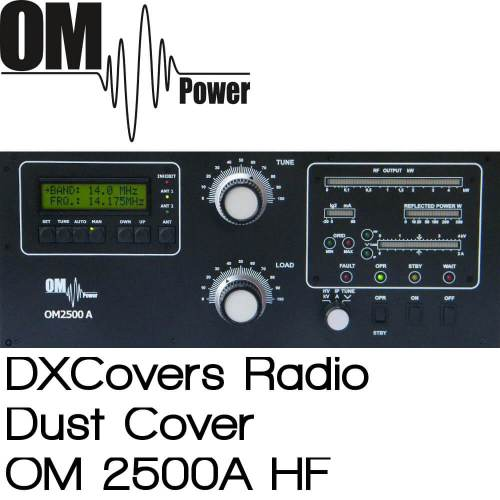 OM Power OM2500A HF Prism Embroidery Radio Dust Covers shop logo