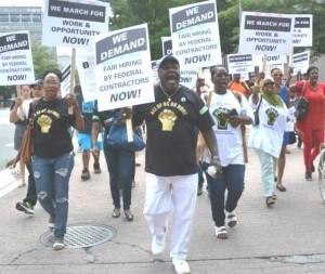 Dorsey Hamdiya Lanice marching in DC