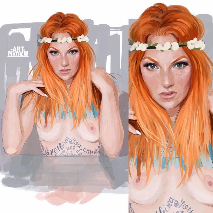 Não consegui descobrir muita coisa online sobre o artista que se denominou como Art of Mathew. Porém acabei gostando tanto das suas ilustrações cheias de garotas tatuadas que acabei pensando em publicar seu portfólio por aqui apesar dessa falha online.