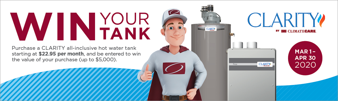 CLARITY Water Heater Contest Ad